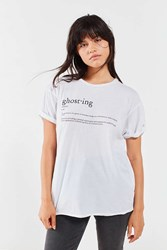 Project Social T Ghosted Tee White