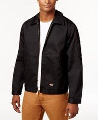 Dickies Men's Lightweight Twill Work Jacket Black