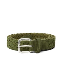 Andersons Anderson's Woven Suede Belt Olive