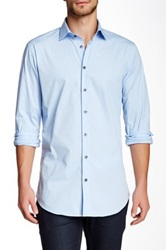14Th And Union Trim Fit Cotton Stretch Dress Shirt Blue