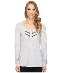 Roper 0606 Slub Jersey Crop Shirt Grey Women's Clothing Gray