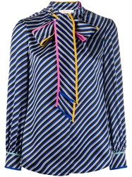 Tory Burch Bow Tie Bias Stripe Blouse 60