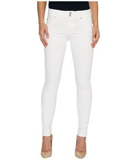 Hudson Collin Mid Rise Skinny Flap Pocket Jeans In White White Women's Jeans