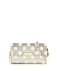 Betsey Johnson Hocus Polkas Faux Leather Wallet Gold