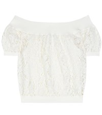 Valentino Lace Off The Shoulder Top White