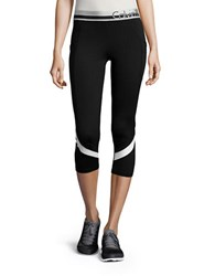 Calvin Klein Cropped Performance Leggings White