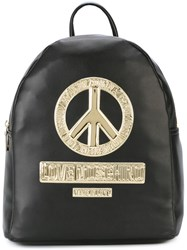 Love Moschino Peace Patch Backpack Black