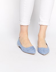 Oasis Dorsay Flat Pointed Shoes Blue
