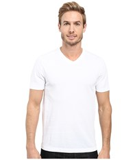 Agave Supima Vee Neck Short Sleeve Tee White Men's T Shirt