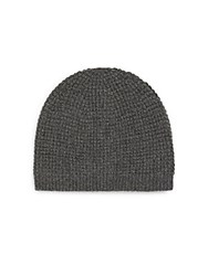 Saks Fifth Avenue Cashmere Waffle Cap Charcoal