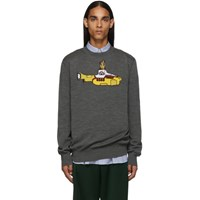 Stella Mccartney Grey The Beatles Edition Virgin Wool Yellow Submarine Sweater