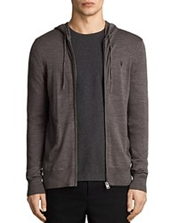 Allsaints Mode Merino Zip Hoodie Coal Gray
