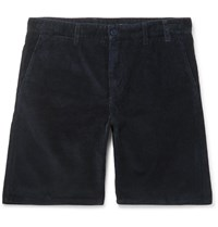 Norse Projects Aros Cotton Corduroy Shorts Blue
