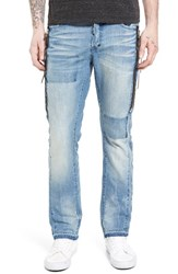 Prps Men's Big And Tall Demon Slim Straight Leg Jeans Light Blue