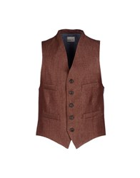 True Tradition Suits And Jackets Waistcoats Men Brick Red