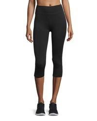 Yummie Tummie Ribbed Capri Leggings Black