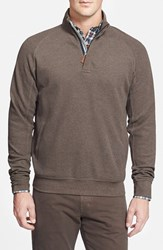 Men's Maker And Company Quarter Zip Waffle Knit Pullover Oatmeal