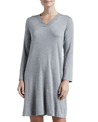 Hanro Champagne Long Sleeve Gown Grey Melange X Large 14 16