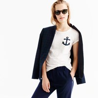 J.Crew Black Watch Anchor T Shirt