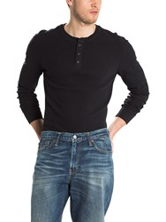Levi's Refined Long Sleeve Henley Top Jet Black