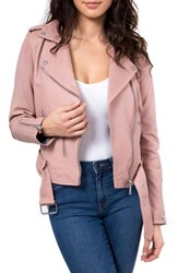 'S Bagatelle. Nyc Washed Leather Biker Jacket Nude