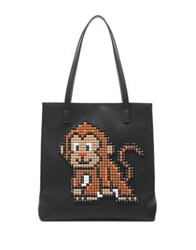 Tua Pixel Monkey Tote Black