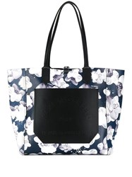 Karl Lagerfeld Journey Tote Blue
