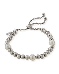 Majorica Adjustable Bracelet W Beading And Manmade Pearls