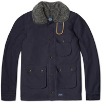 Bleu De Paname 3 4 Double Counter Jacket Marine
