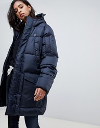 G Star Recycled Polyester Parka With Hood Mazarine Blue