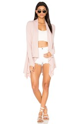 Feel The Piece Witton Drape Cardigan Pink