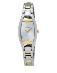 Seiko Solar Sport Two Tone Stainless Steel Watch Sup318