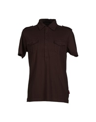 Marlboro Classics Polo Shirts Dark Brown