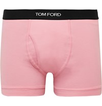 Tom Ford Stretch Cotton Boxer Briefs Pink