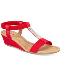 Alfani Women's Vacay Wedge Sandals Only At Macy's Women's Shoes Chili