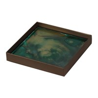 Notre Monde Malachite Organic Glass Tray Small