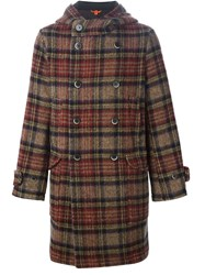 Barena Hooded Tartan Coat Multicolour
