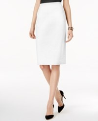 Grace Elements Pencil Sweater Skirt Winter White