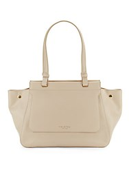 Halston Expanding Leather Handbag Champagne