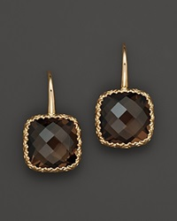 Bloomingdale's 14K White Gold And Smoky Quartz Earrings Yellow Gold