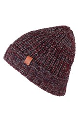 Men's Bickley Mitchell Knit Beanie Burgundy Burgundy Twist