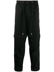 Diesel Drawstring Waist Trousers Black