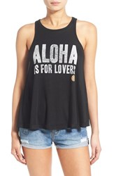 Women's Rip Curl 'Aloha Is For Lovers' Graphic Tank Black