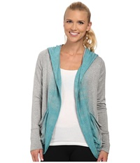 Pink Lotus Color Me Ombre Lounge About Wrap Light Teal Women's Clothing Blue