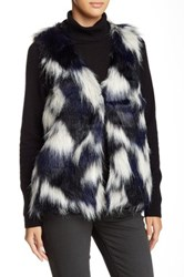 Romeo And Juliet Couture Faux Fur Vest Black