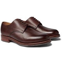 f8f3e2534fc Curt Hand Painted Full Grain Leather Derby Shoes Dark Brown