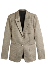 Agnona Striped Cotton Silk Blazer