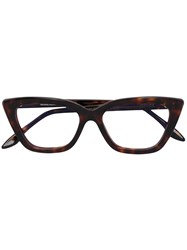 Cutler And Gross Cat Eye Glasses Brown