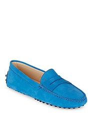 Tod's Gommini Driving Moccasins Turquoise
