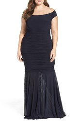 Xscape Evenings Plus Size Women's Off The Shoulder Mermaid Gown